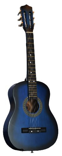 """32"""" Inch 1/2 Half Size Blue Kids Acoustic Toy Guitar & Di..."""
