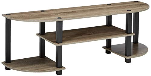 (Furinno 11058GYW/BK TV Entertainment Center, French Oak Grey )