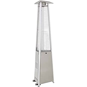 Charmant AZ Patio Heaters HLDS01 CGTSS Commercial Stainless Steel Glass Tube Patio  Heater
