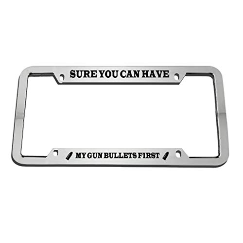 license plate frame pro gun - 8