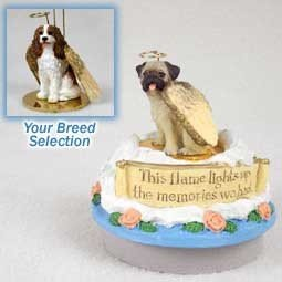 Miniature Cavalier King Charles Spaniel (Conversation Concepts Miniature Cavalier King Charles Spaniel Brown & White Candle Topper Tiny One Pet Angel Ornament)