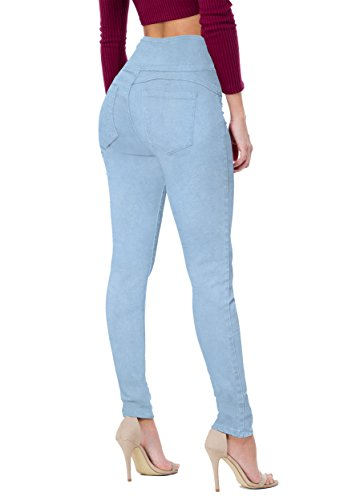 HyBrid & Company Women's Butt Lift V3 Super Comfy Stretch Denim Jeans P45071SKX Light Wash - Denim Light