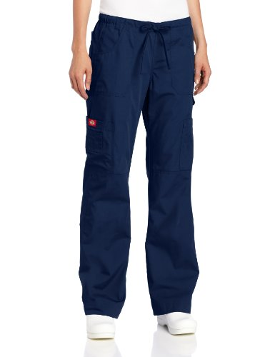 Everyday Scrubs Flare Leg (Dickies Women's Everyday Scrubs Junior Fit Flare Leg, Navy,)