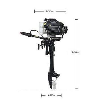SHIOUCY Motor fueraborda 4 Tiempos, 4,0 CV, 52 CC, Motor de ...