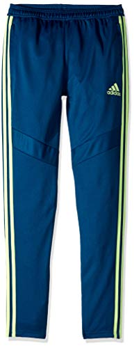 adidas Originals Boys' Big Tiro 19 Pant, Legend Marine/Hires Yellow, Small