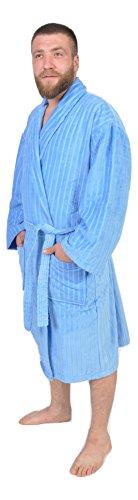 100-turkish-cotton-frette-striped-velour-shawlcollar-mens-bathrobe-blue-s