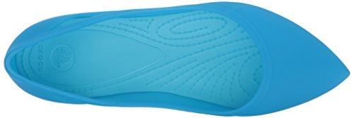 Crocs Mujer de Talón Blue sintético Flat Electric Ocean Rio Cerrado W Swqc6SrZ