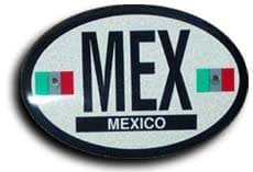 Mexico - Oval Decal