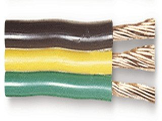 Parallel Bonded Wire (16/3 Ga Parallel Bonded Wire Gpt Brown Yellow Green-250Feet)