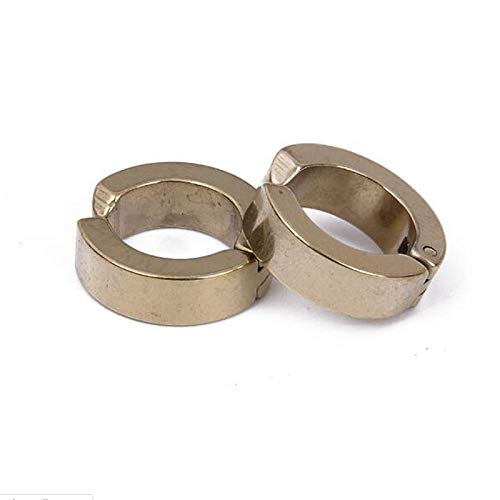Stainless Steel Girl Clip on Earrings Gold Plated Round Ring Ear Buckle Jewelry Free Adjustable
