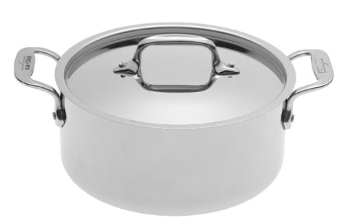 All-Clad 5303 Stainless Steel Casserole with Lid Cookware, 3-Quart, Silver