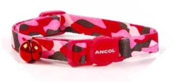 Ancol Camouflage Cat Collar with safety buckle Pink (Camouflage Buckle)