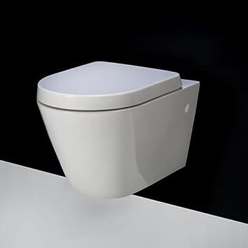 rimless rak resort compact d shape wall hung toilet wc soft close seat 520 - Wall Hung Toilet