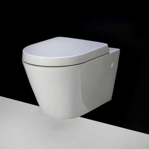 Rimless RAK Resort Compact D Shape Wall Hung Toilet WC Soft Close Seat 520:  Amazon.co.uk: Kitchen U0026 Home