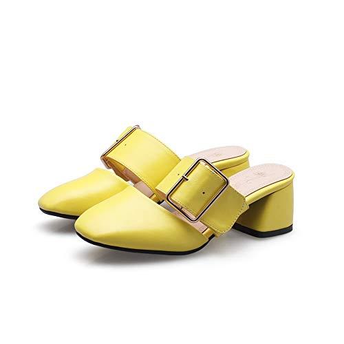 Sandali EU 35 Yellow Zeppa con Aimint EYR00350 Giallo Donna 4Awzqz