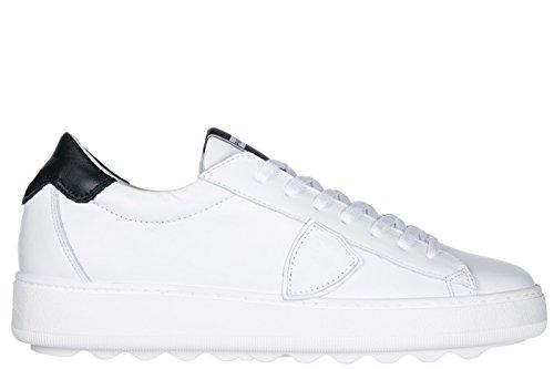 Philippe Model Herrenschuhe Herren Leder Schuhe Sneakers Gare Weiß
