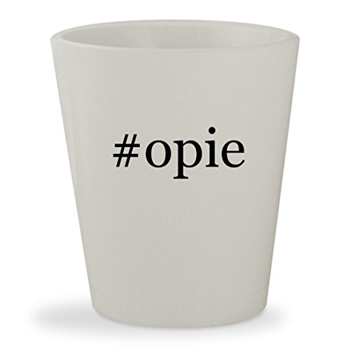 #opie - White Hashtag Ceramic 1.5oz Shot Glass