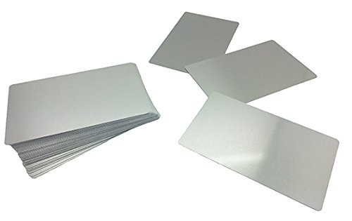 Metal Straight Edge Business Card Grey Silver Sublimation Blank Heat 100 pcs. -