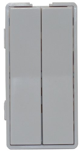 Simply Automated ZS12-W Custom Series Dual Tall Faceplate, White