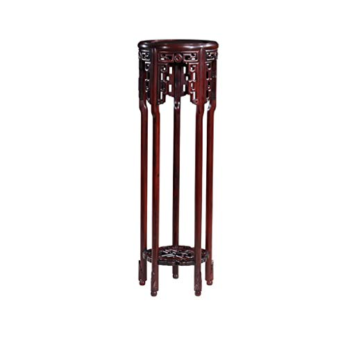 (Mahogany Flower Stand Solid Wood Rosewood Living Room Chinese Style Antique Green Flower Stand Wooden Flower Shelf Indoor Balcony Flower Pot Rack )