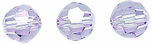 Swarovski #5000 Faceted Round Beads, Transparent Finish, 6mm, Light Amethyst, 10-Pack