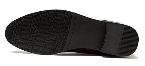 Botines De Punta Redonda Con Diseño De Opp Zapatos De Cordones Con Cordones De Ocho Ojos Para Hombre