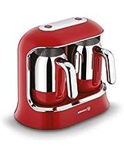 Korkmaz A861 Kahvekolik Twin Kırmızı/Krom Kahve Makinesi