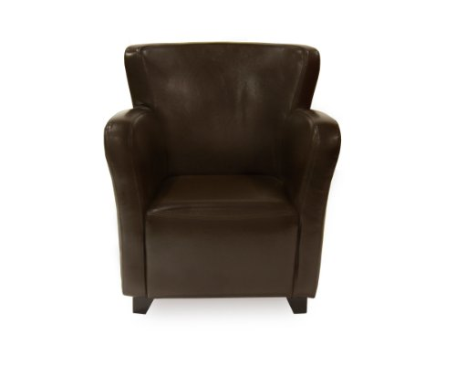 Mod Home Collection Blake Club Chair, Dark Brown
