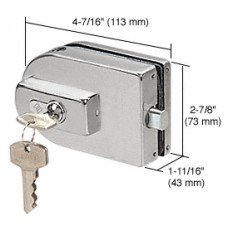C.R. LAURENCE PTH25BS CRL Brushed Stainless PTH Series Glass Mounted Patch Lock