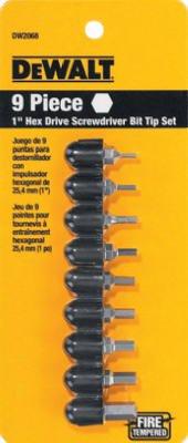 Dewalt Accessories DW2068 DeWalt 9-Piece Hex Bit Tip Set - Q