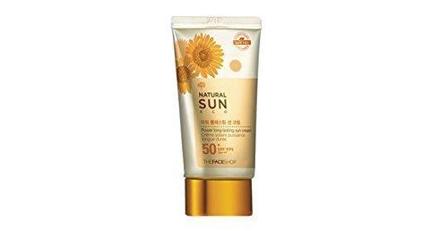 [The Face Shop]2015 UPGRADE Natural Sun Eco Power Long-Lasting Sun Cream 50ml(1.69oz)SPF50 PA+++ (The Face Shop Super Perfect Sun Cream)