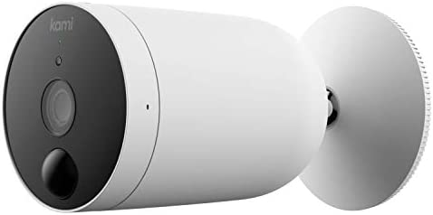 Outdoor Security Camera Wireless, Kami by way of Yi Rechargeable Battery Powered 1080p Outside Surveillance Front Door IP Smart Cam with Waterproof, WiFi, Cloud, Night Vision, PIR Motion Detection Sensor