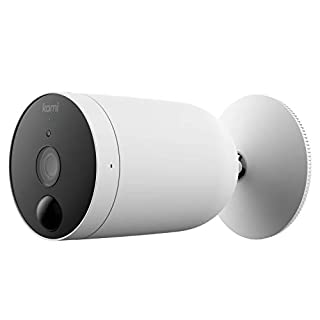 Outdoor Security Camera Wireless, Kami by Yi Rechargeable Battery Powered 1080p Outside Surveillance Front Door IP Smart Cam with Waterproof, WiFi, Cloud, Night Vision, PIR Motion Detection Sensor