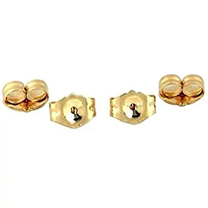 7d830b917 Amazon.com: 14K Gold Earring Backs - 4 Piece Replacement Earring Backs:  Arts, Crafts & Sewing