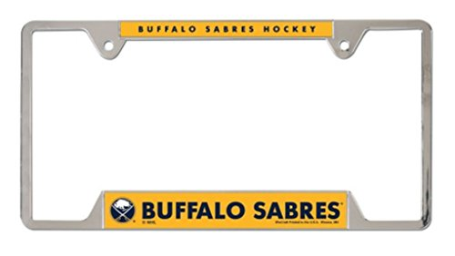 WinCraft NHL Buffalo Sabres Metal/Chrome License Plate Frame 2 Mount Holes