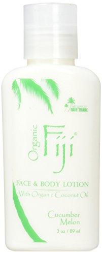Organic Fiji Coconut Oil Moisturizer, Cucumber Melon, 3 Ounce