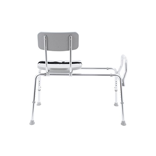 Eagle Health Supplies Swivel Sliding Shower Transfer Bench with Adjustable Height, No Tool Assembly by Eagle Health Supplies (Image #5)