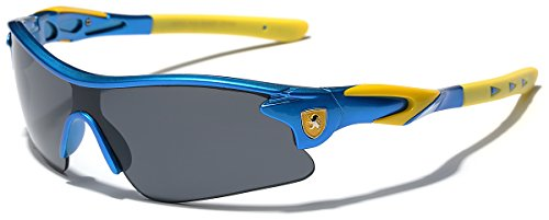 Half Frame Kids Teen Age 8-16 Performance Baseball Cycling Running Sport Sunglasses - Blue