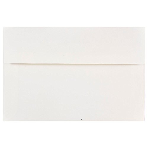 - JAM PAPER A8 Invitation Envelopes - 5 1/2 x 8 1/8 - White - 50/Pack