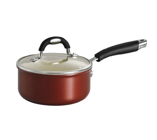 1.5 Quart Ceramic - Tramontina 80110/048DS Style Ceramica 01 Covered Sauce Pan, 1.5-Quart, Metallic Copper