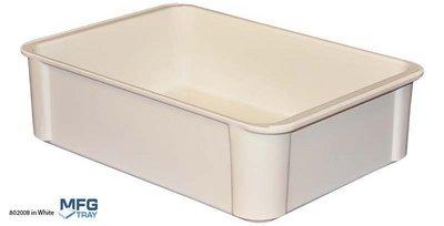 Molded Fiberglass 870008-5136 Stacking Food Storage Box, 4.5 Gallon Capacity - Fiberglass Market Tray