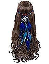 Dreamcatcher Feather Headband Hippie Headdress - AWAYTR New Retro Bohemian  Indain Style Feather Headwear Fancy Headpieces a76c86cbcc53