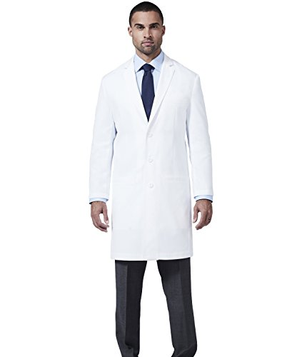 Medelita Men's E. Wilson Slim Fit M3 White Lab Coat- Professional Fit With Performance Fabric - Size 38 by Medelita