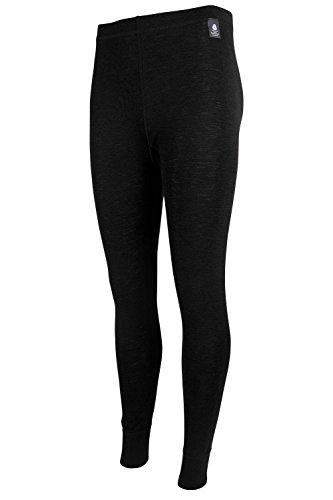Mountain Warehouse Merino Damenhose thermo unterwäsche Base Layer Funktion Tights Schwarz DE 44 (EU 46)