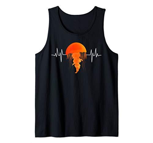 Beach Jellyfishes Heartbeat Art Dress EKG Gift Jellyfish