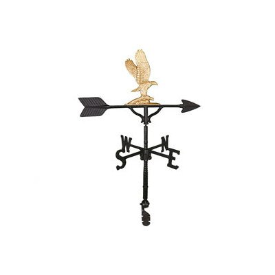Montague Metal Products 32-Inch Weathervane with Gold Eagle Ornament