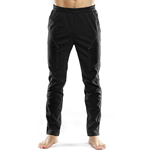 INBIKE Cycling Running Pants Jogger Winter Windproof Long Straight Sweat Pants Men Black X-Large TJ