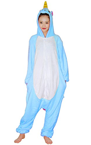 Unicorn Kigurumi Pajamas - FeelMeStyle Animal Cosplay Costume Unisex Adult Children Onesie Sleepwear