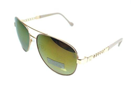 Jessica Simpson Women's J5359 RGDRS Non-Polarized Iridium Aviator Sunglasses, Rose Gold & Rose, 60 mm