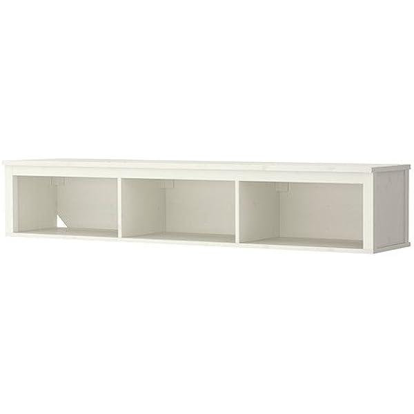 IKEA HEMNES - Estantería de pared / puente, mancha blanca ...